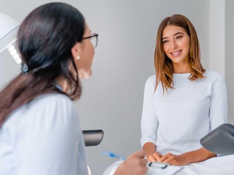 new patient visit at a fertility clinic