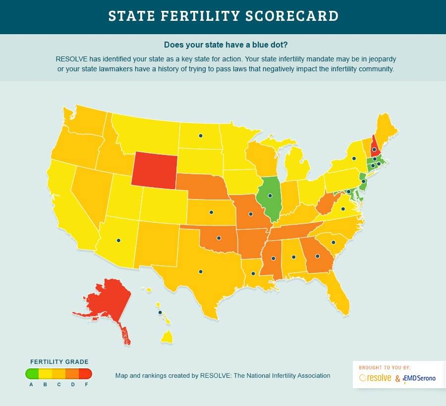 ivf cost and insurance coverage by state