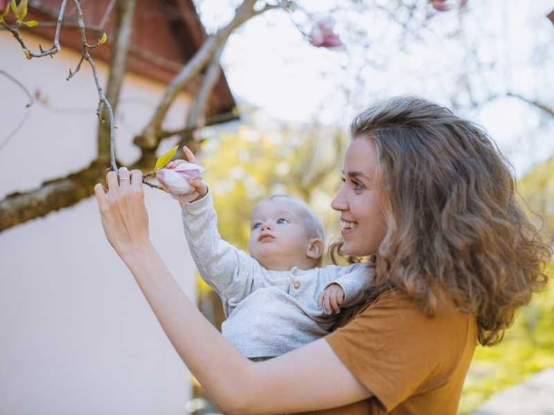 woman seeking fertility treatment with baby
